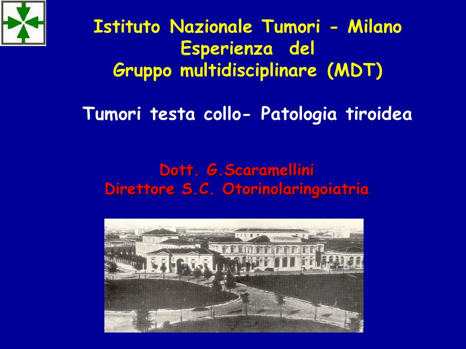 Dott. G.Scaramellini Direttore S.C. Otorinolaringoiatria