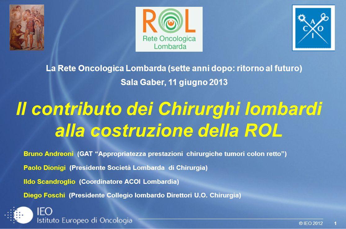 Il contributo dei Chirurghi lombardi alla costruzione della ROL