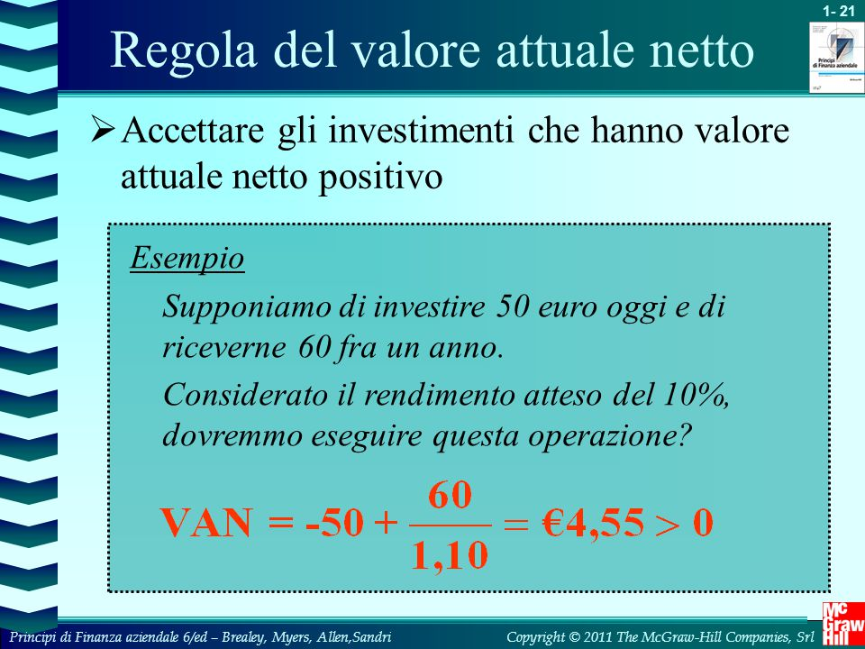 Regola del valore attuale netto