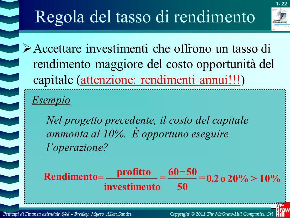 Regola del tasso di rendimento