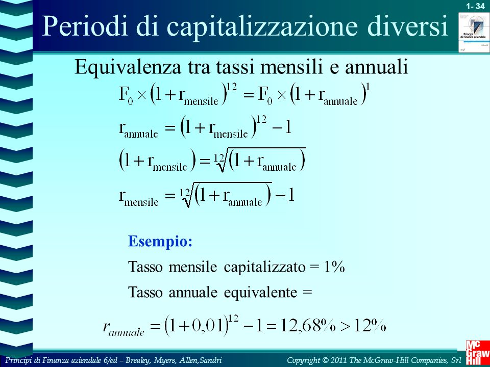 Periodi di capitalizzazione diversi