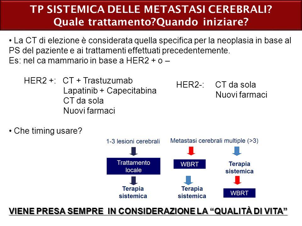 TP SISTEMICA DELLE METASTASI CEREBRALI
