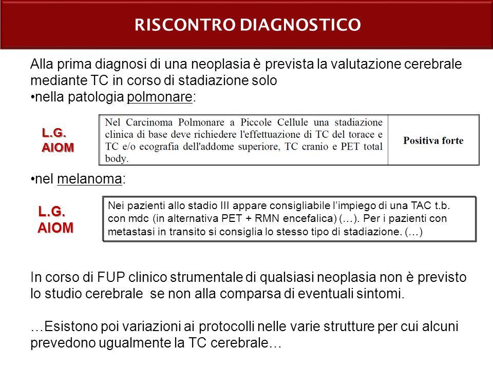RISCONTRO DIAGNOSTICO