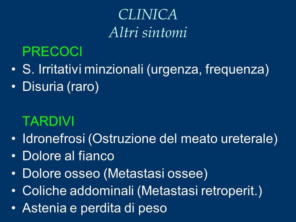CLINICA Altri sintomi PRECOCI