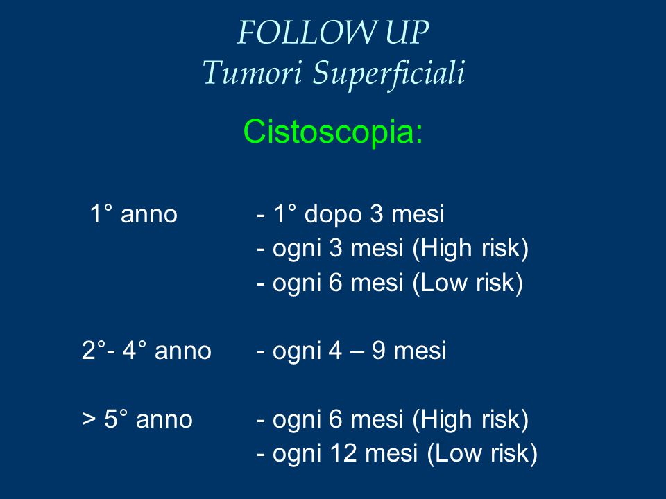 FOLLOW UP Tumori Superficiali