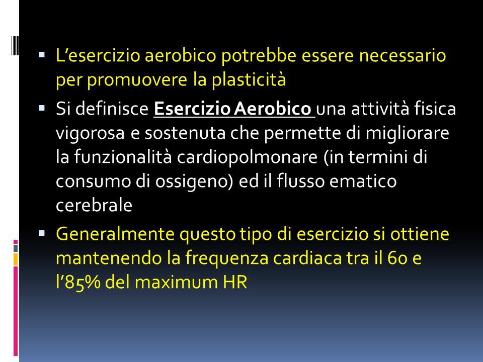 L'esercizio aerobico potrebbe essere necessario per promuovere la plasticità