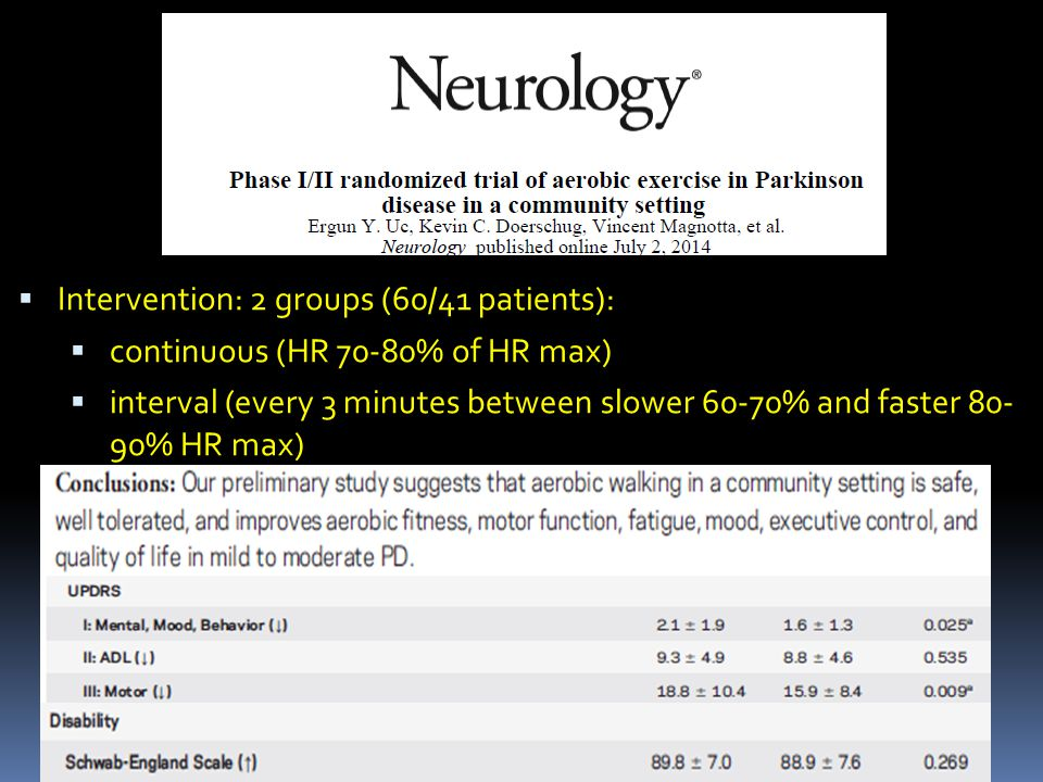 Intervention: 2 groups (60/41 patients):