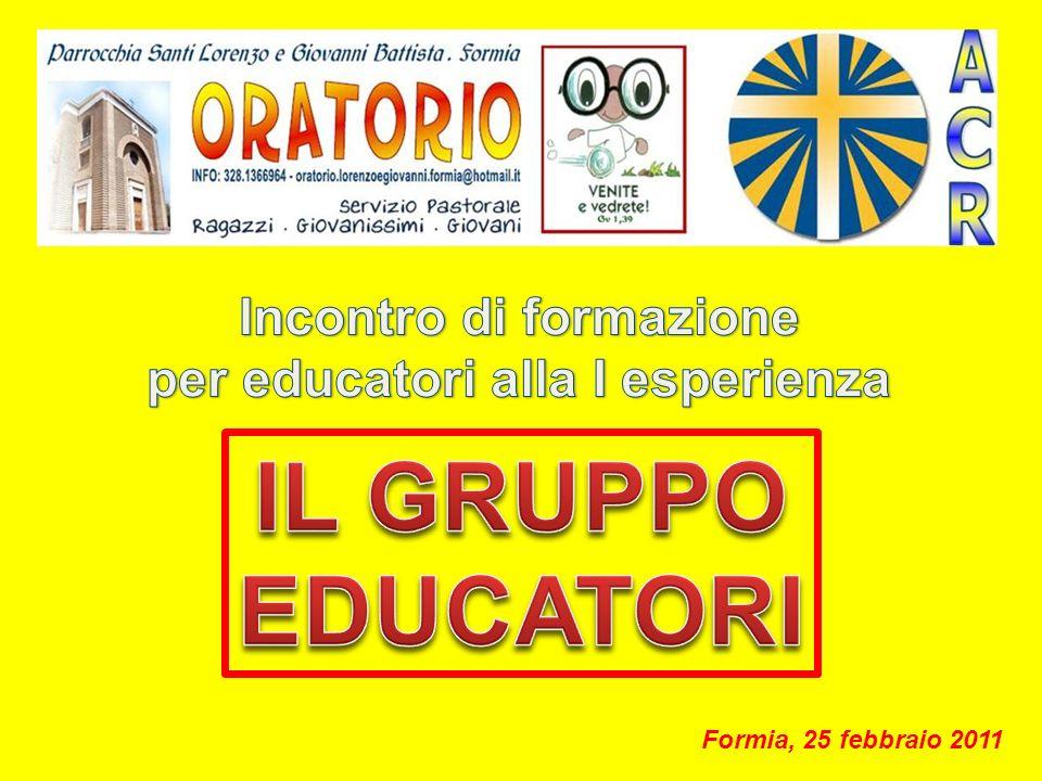 Incontro di formazione per educatori alla I esperienza