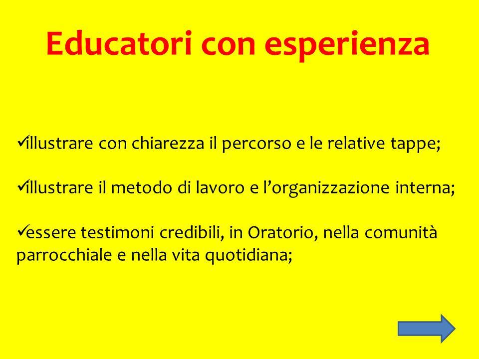 Educatori con esperienza