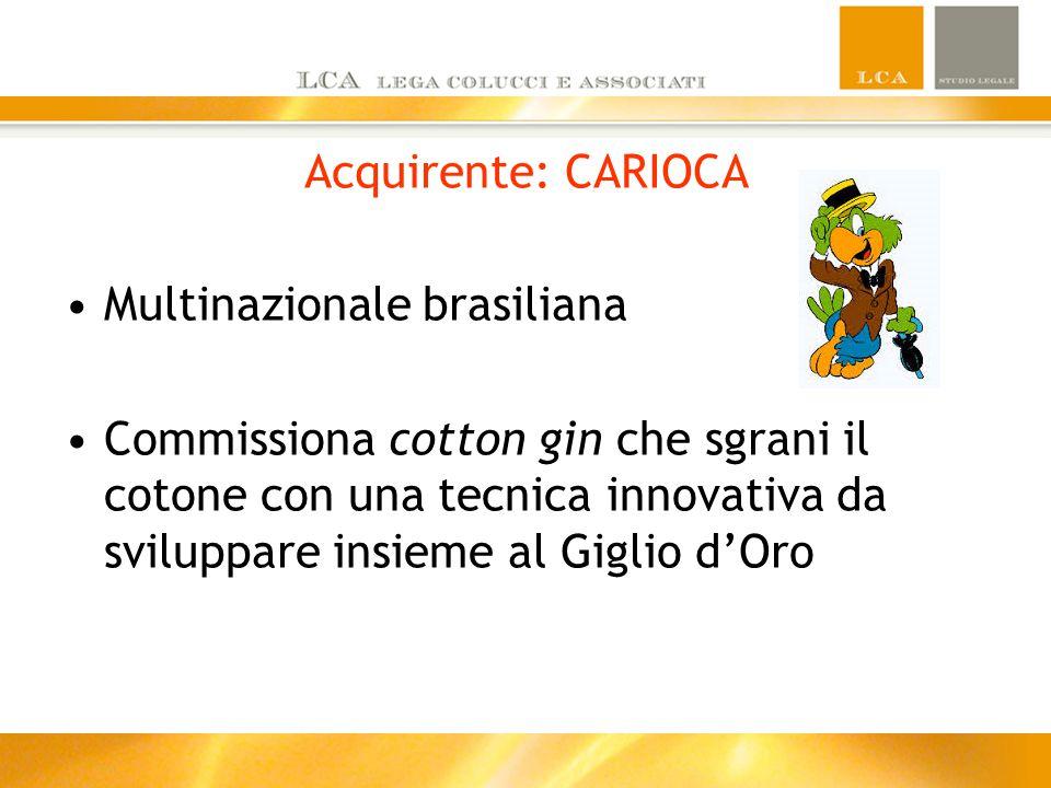 Acquirente: CARIOCA Multinazionale brasiliana.