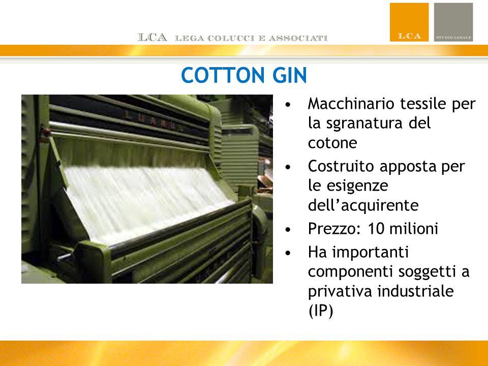 COTTON GIN Macchinario tessile per la sgranatura del cotone