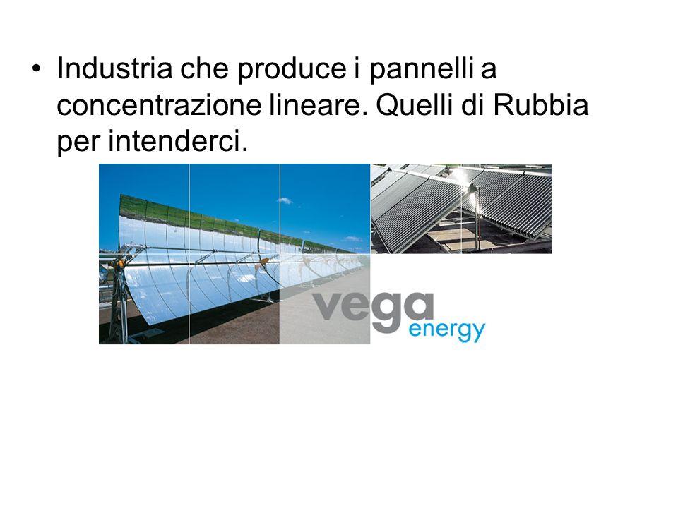 Industria che produce i pannelli a concentrazione lineare