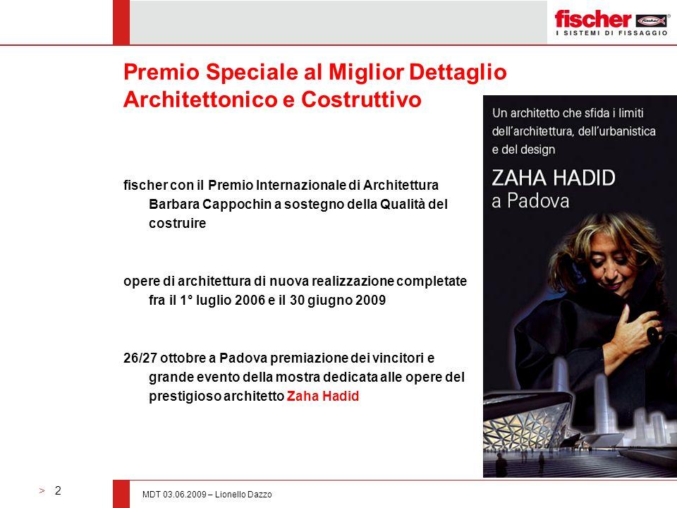 Premio Speciale al Miglior Dettaglio Architettonico e Costruttivo
