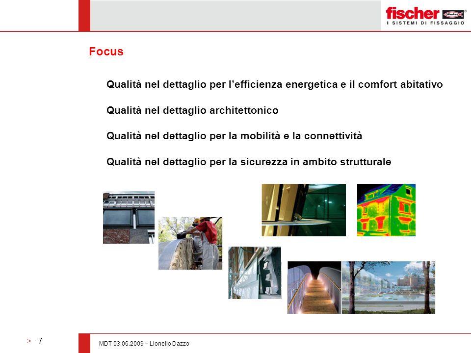 Focus Qualità nel dettaglio per l'efficienza energetica e il comfort abitativo