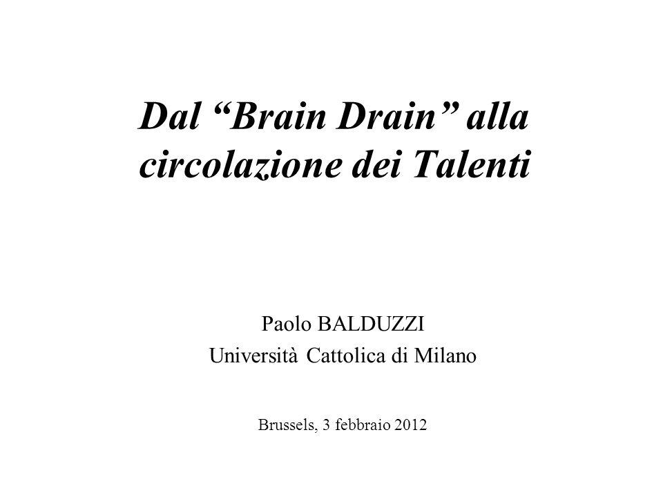 Dal Brain Drain alla circolazione dei Talenti