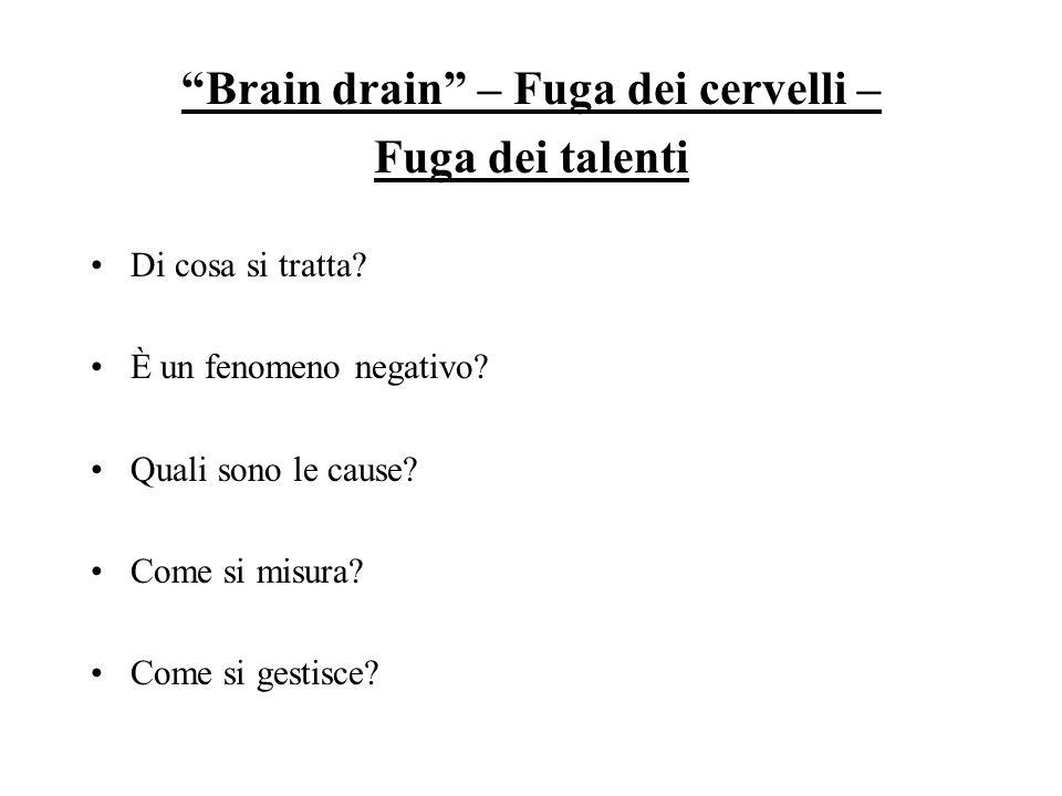 Brain drain – Fuga dei cervelli –