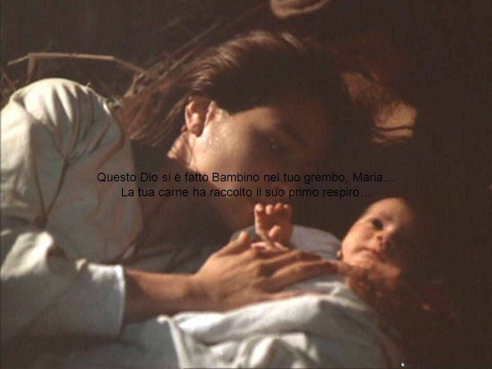 Questo Dio si è fatto Bambino nel tuo grembo, Maria…