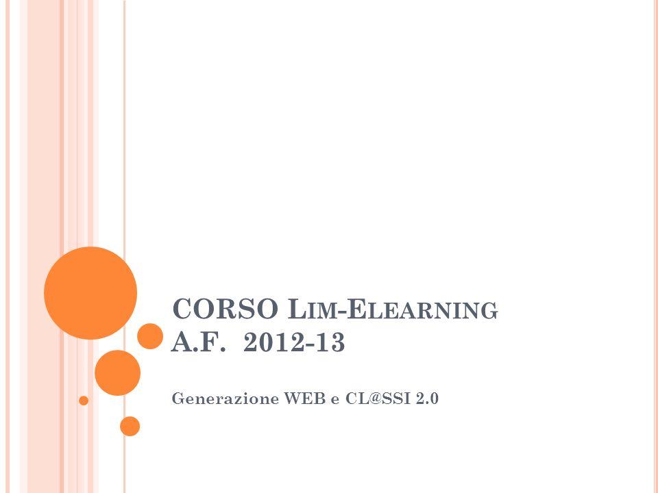 CORSO Lim-Elearning A.F. 2012-13