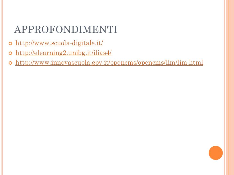 APPROFONDIMENTI http://www.scuola-digitale.it/