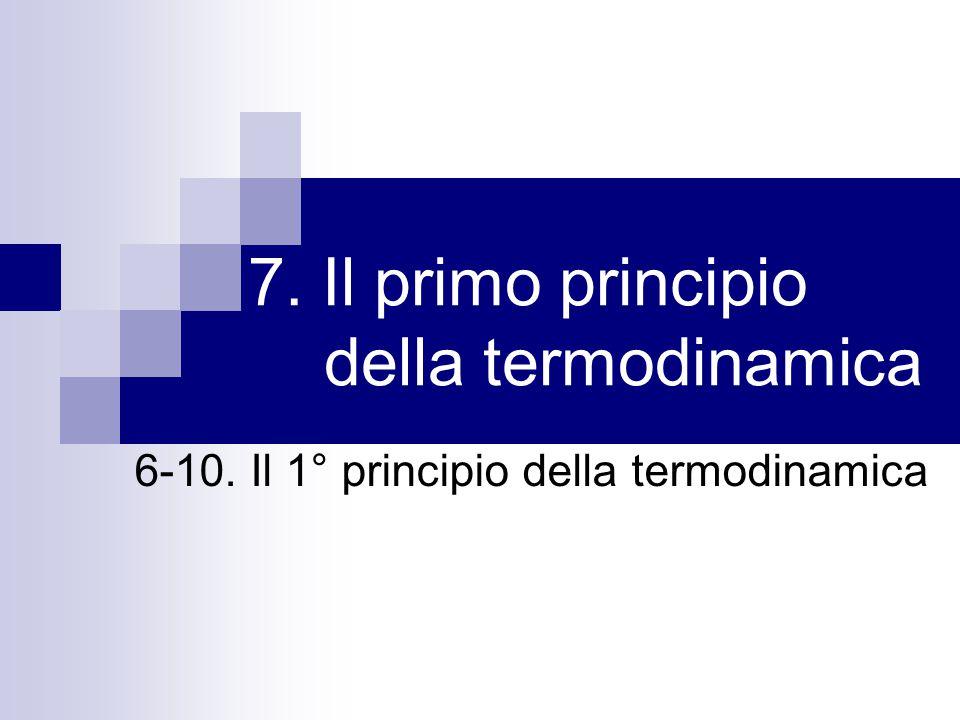 7. Il primo principio della termodinamica