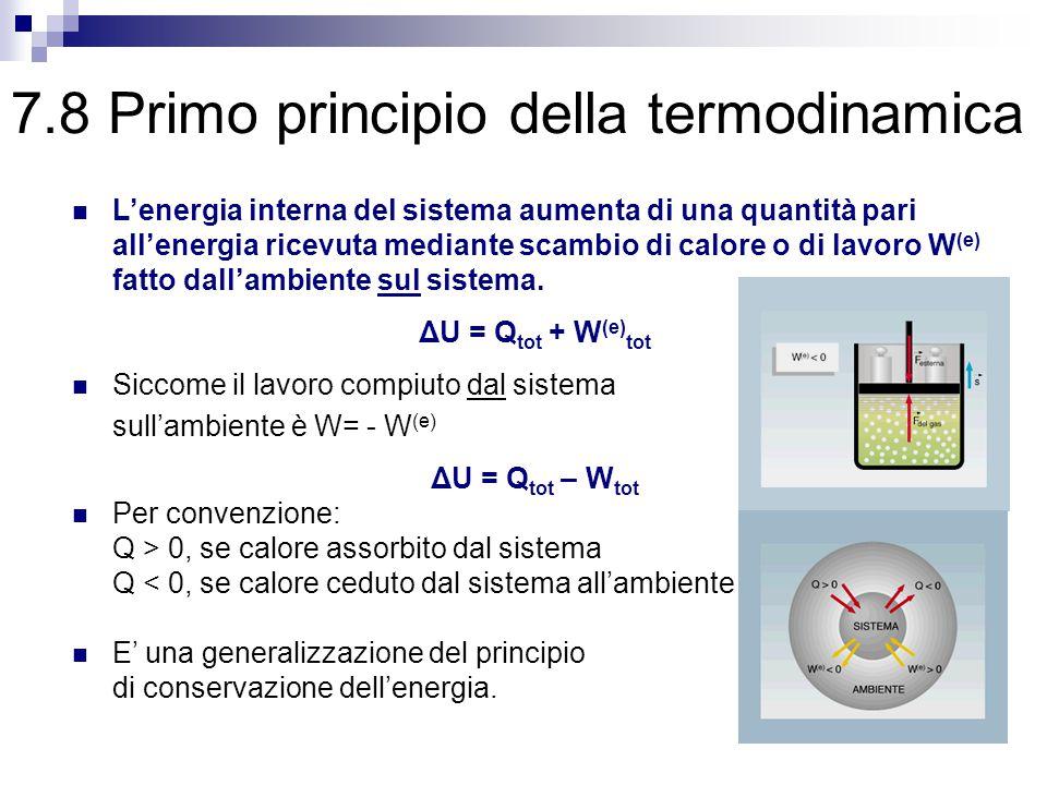 7.8 Primo principio della termodinamica