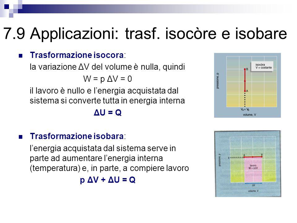 7.9 Applicazioni: trasf. isocòre e isobare