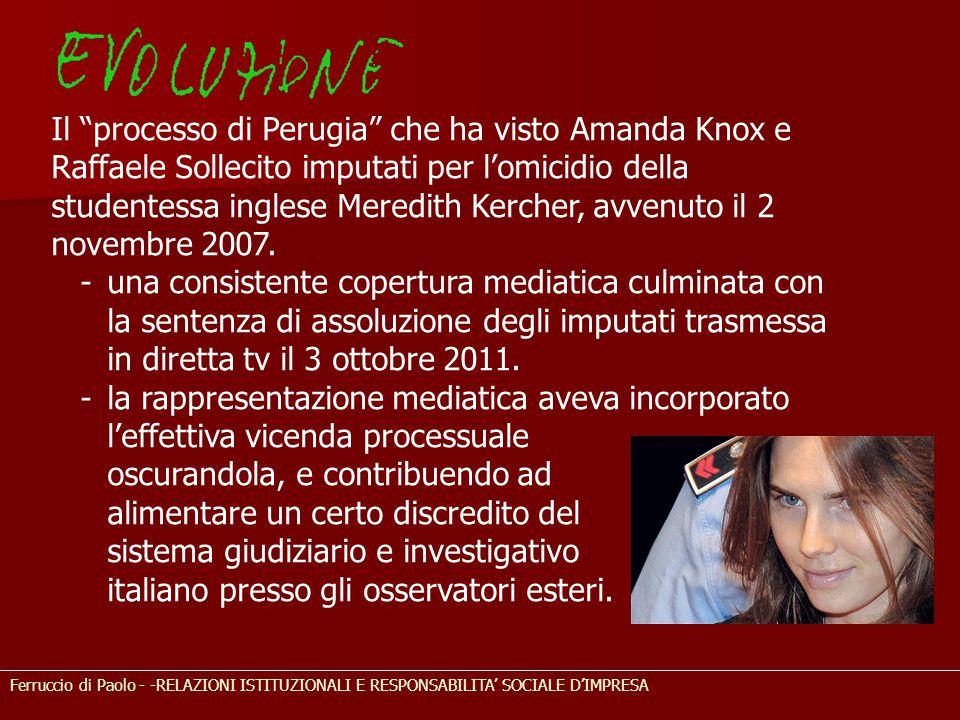 Il processo di Perugia che ha visto Amanda Knox e Raffaele Sollecito imputati per l'omicidio della studentessa inglese Meredith Kercher, avvenuto il 2 novembre 2007.