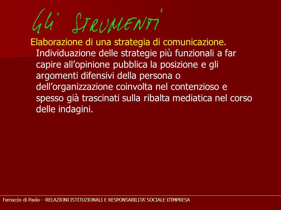 Elaborazione di una strategia di comunicazione