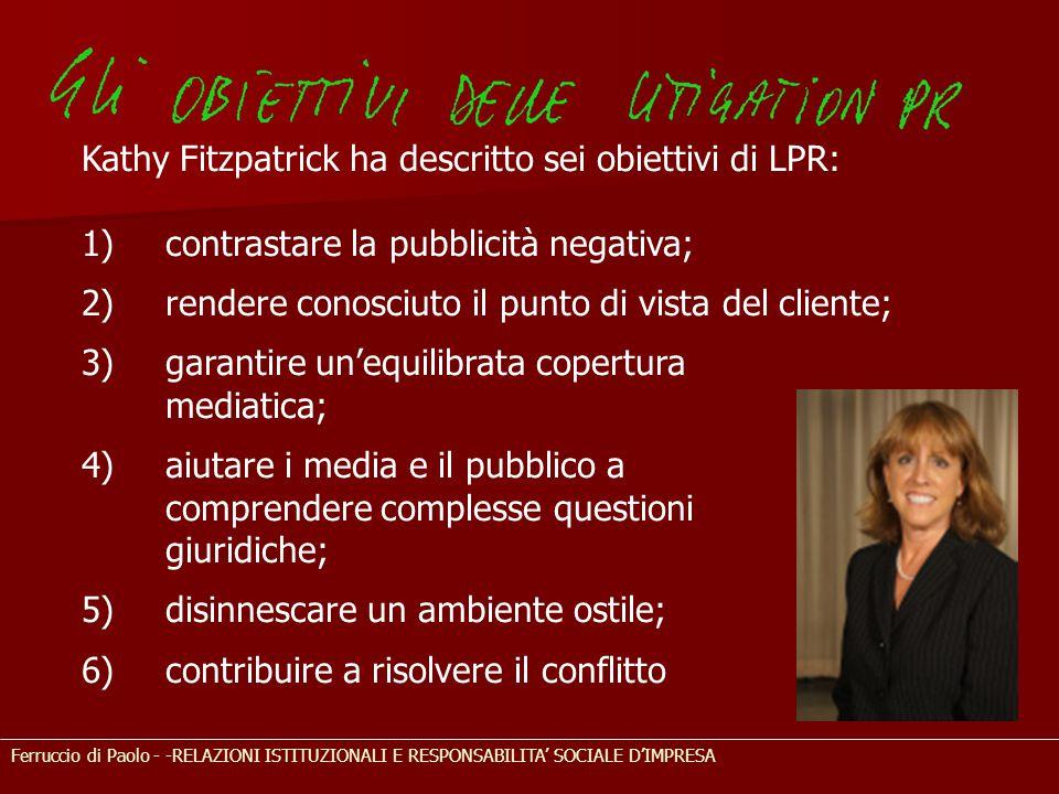 Kathy Fitzpatrick ha descritto sei obiettivi di LPR: