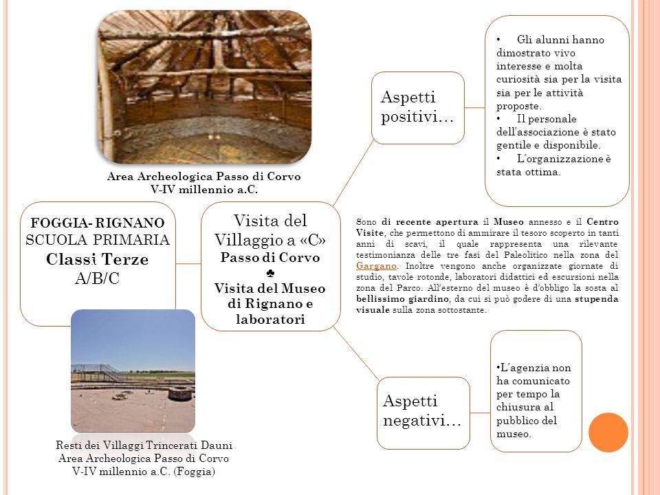 Visita del Villaggio a «C» Classi Terze A/B/C