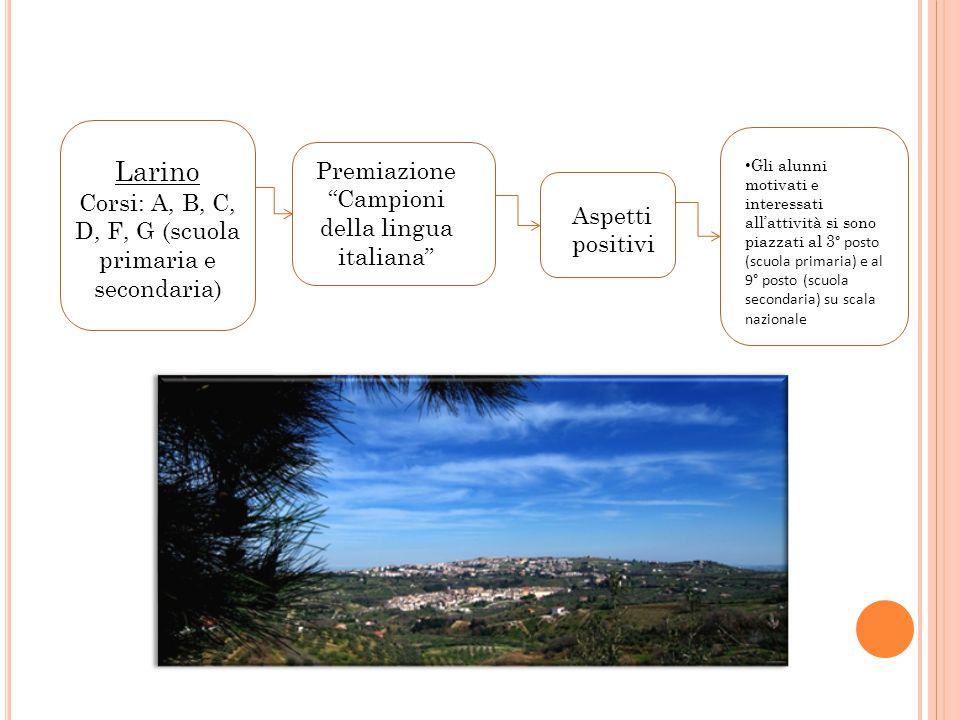Larino Premiazione Campioni della lingua italiana