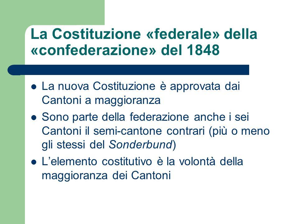 La Costituzione «federale» della «confederazione» del 1848