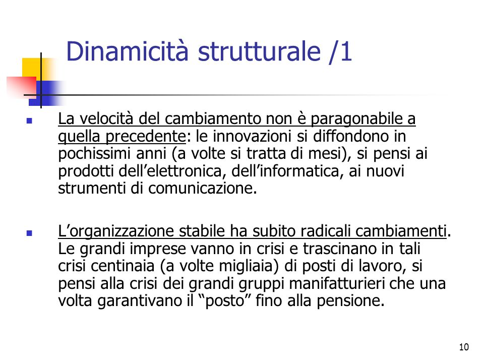 Dinamicità strutturale /1