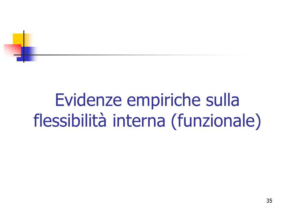 Evidenze empiriche sulla flessibilità interna (funzionale)