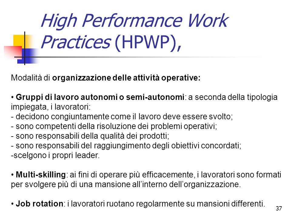 High Performance Work Practices (HPWP),