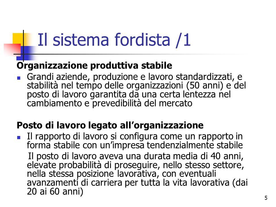 Il sistema fordista /1 Organizzazione produttiva stabile