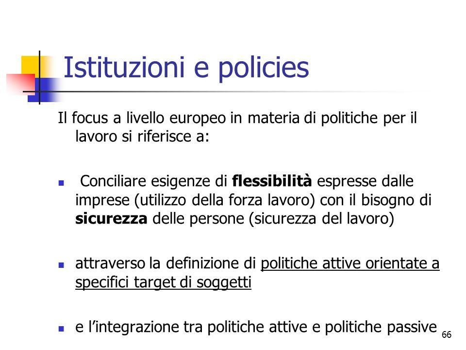 Istituzioni e policies
