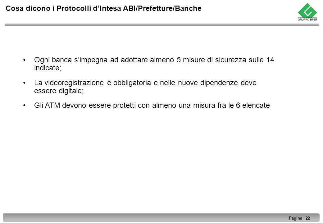 Cosa dicono i Protocolli d'Intesa ABI/Prefetture/Banche