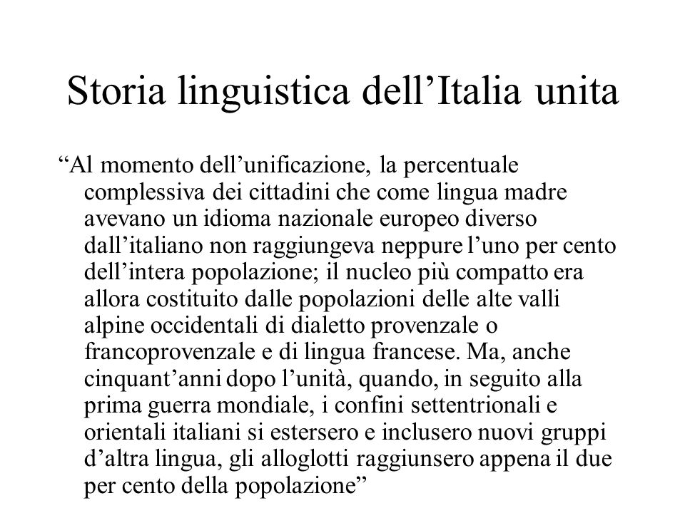 Storia linguistica dell'Italia unita
