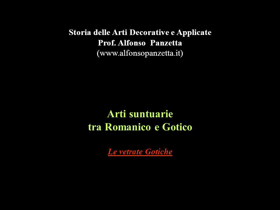 Arti suntuarie tra Romanico e Gotico Le vetrate Gotiche