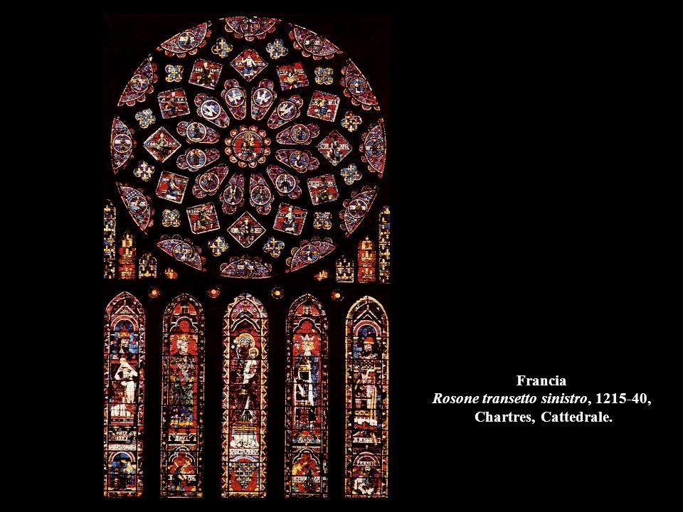Francia Rosone transetto sinistro, 1215-40, Chartres, Cattedrale.