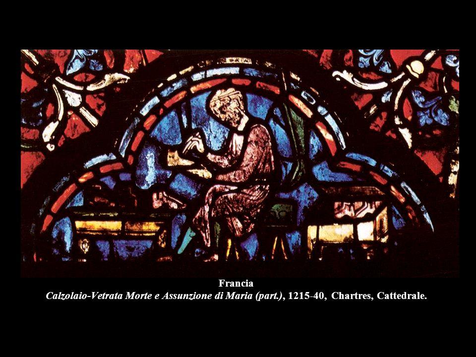 Francia Calzolaio-Vetrata Morte e Assunzione di Maria (part