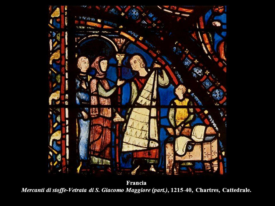 Francia Mercanti di stoffe-Vetrata di S. Giacomo Maggiore (part