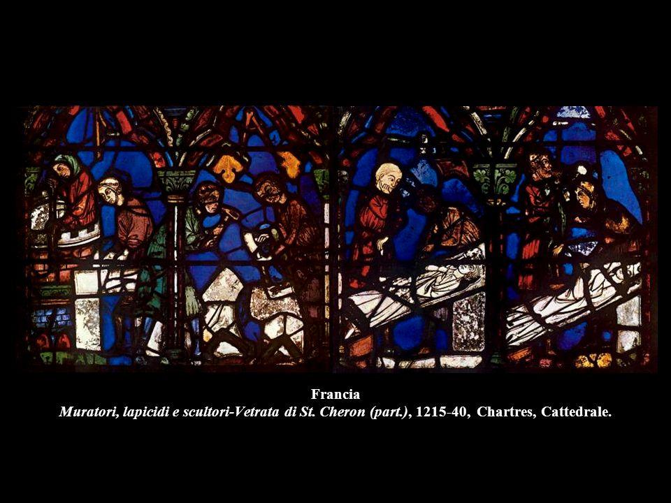 Francia Muratori, lapicidi e scultori-Vetrata di St. Cheron (part