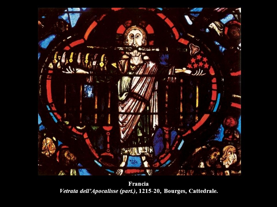 Francia Vetrata dell'Apocalisse (part.), 1215-20, Bourges, Cattedrale.