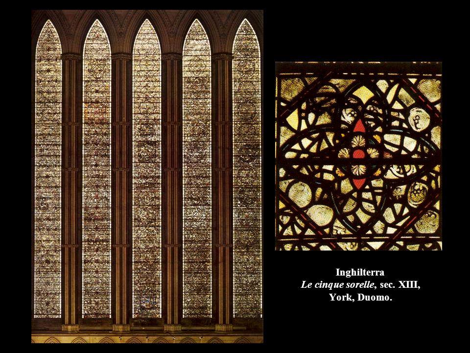 Inghilterra Le cinque sorelle, sec. XIII, York, Duomo.