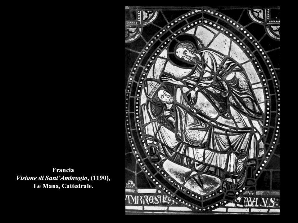 Francia Visione di Sant'Ambrogio, (1190), Le Mans, Cattedrale.
