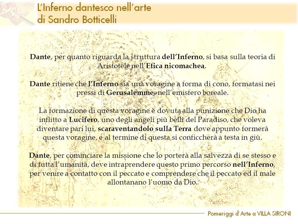 Dante, per quanto riguarda la struttura dell'Inferno, si basa sulla teoria di Aristotele nell'Etica nicomachea.