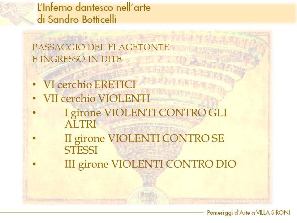 I girone VIOLENTI CONTRO GLI ALTRI II girone VIOLENTI CONTRO SE STESSI