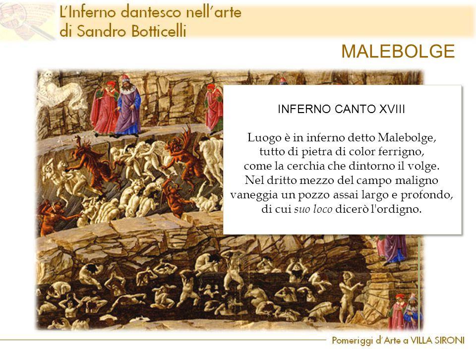 MALEBOLGE INFERNO CANTO XVIII Luogo è in inferno detto Malebolge,